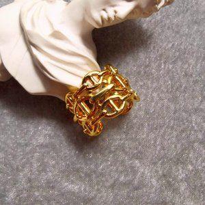 Adjustable 18K Gold Ring